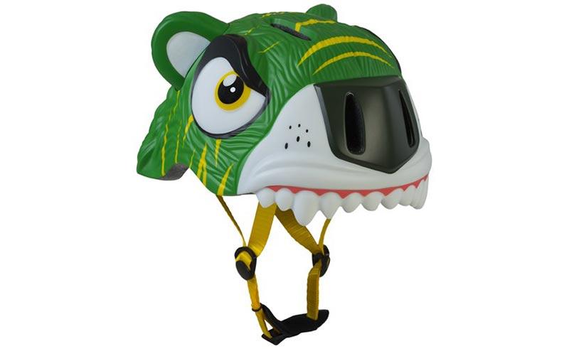 Dětská helma CRAZY SAFETY Tiger zelená