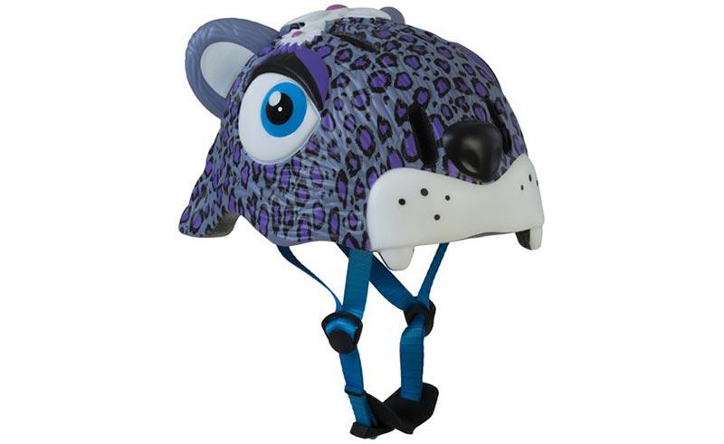 Dětská helma Crazy safety Leopard fialová