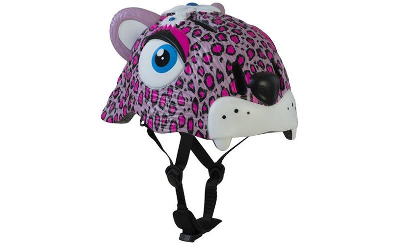 Dětská helma Crazy safety Leopard růžová