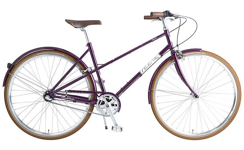 Retro dámské jízdní kolo checker pig Charlotte fialová